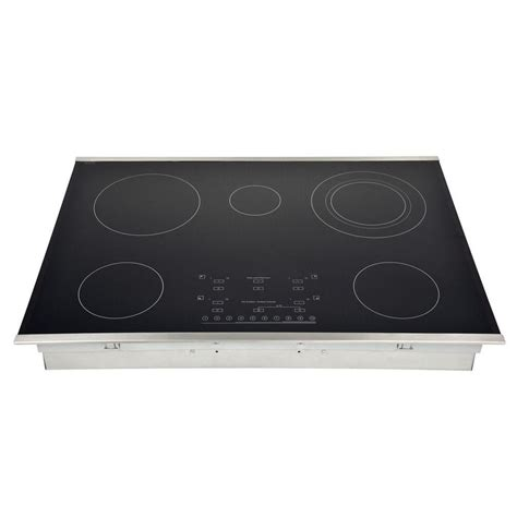 best electric cooktop whirlpool 21 in smooth coil electric cooktop in stainless
