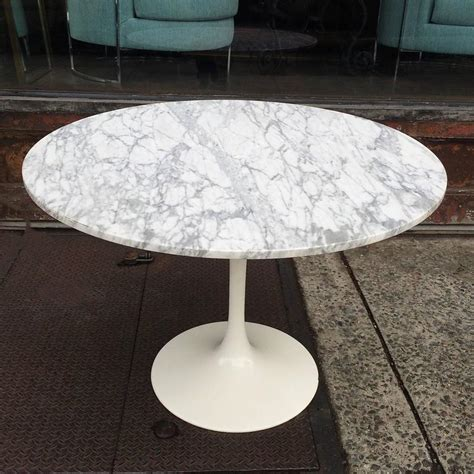 marble tulip dining table mid century modern tulip base dining table with round