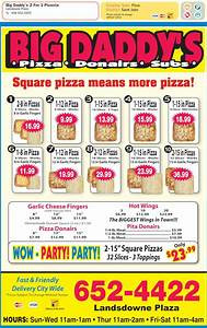 Big Daddy's Pizza - Menu, Hours & Prices - 87 Lansdown Ave ...