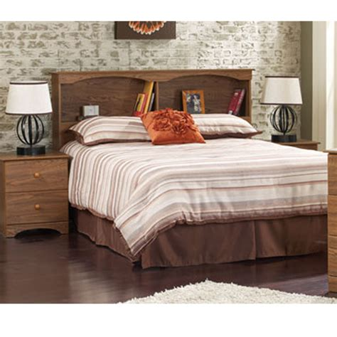 Bookcase Headboards by Perdue 12030b Autumn Oak Bookcase Headboard