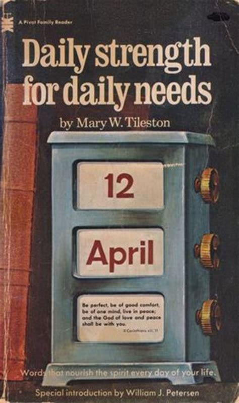 daily strength  daily   mary  tileston