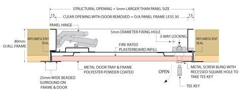 glass office door plasterboard door access panel concealed frame