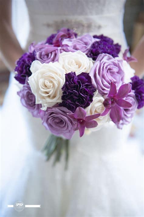 Wedding Wednesday  Lace Dress & Purple And Cream Flowers