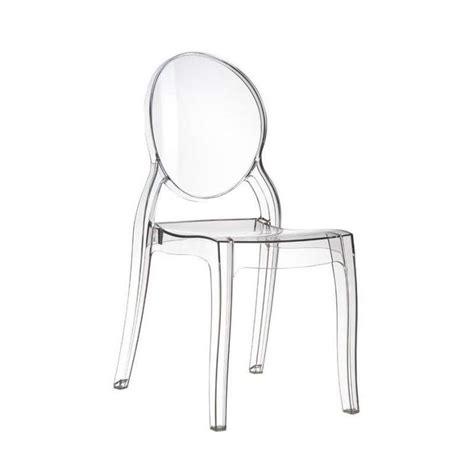 chaise en plexi chaise de style en polycarbonate transparent elizabeth