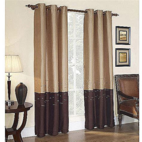 Walmart Curtains For Living Room by Horizon Grommet Lined Curtain Panel Walmart