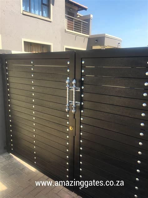 walls  gates south africa modern house