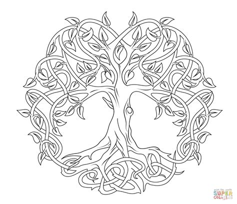 Celtic Mandala Coloring Pages Celtic Tree Of Life