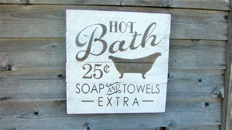 bathroom decor shabby chic bathroom decor pallet sign