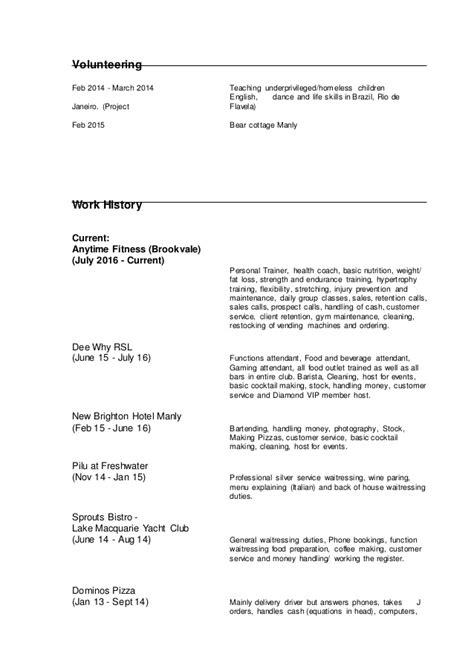 Gaming Machine Attendant Resume by Georgie Resume
