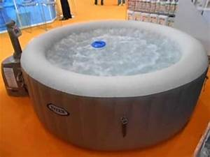 Intex whirlpool aufblasbar jacuzzi youtube for Whirlpool garten mit rinne balkon