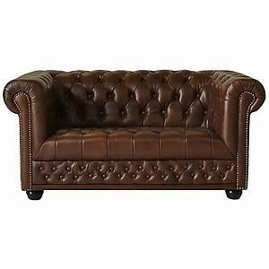 Chesterfield 2er Sofa : chesterfield 2er sofa couch spalt leder antique braun ~ Sanjose-hotels-ca.com Haus und Dekorationen