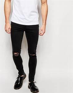 Brooklyn supply co. Black Hunter Spray On Denim Jeans With ...
