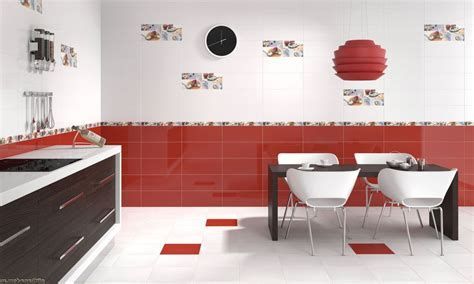 Red Kitchen Tile interior design ideas and photo gallery