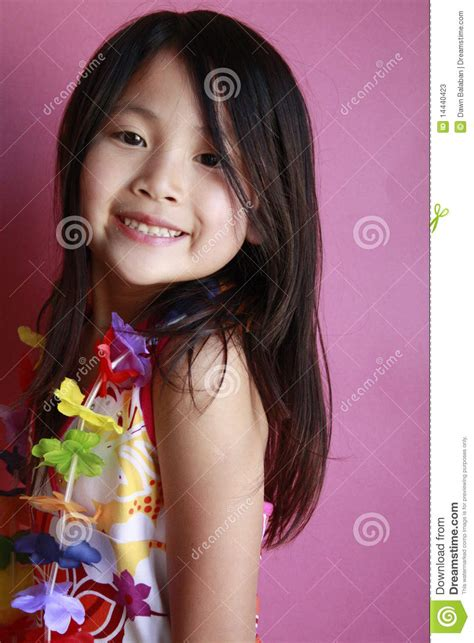 hawaiian girl dancing stock  image