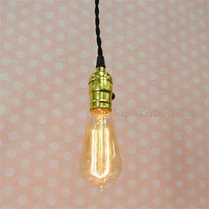 Single gold socket pendant light lamp cord kit w dimmer