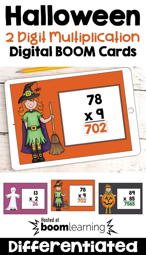 halloween math boom cards   digit multiplication