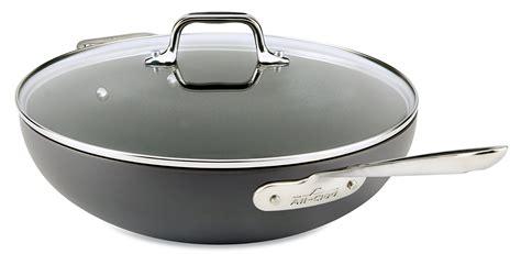 buy emeril   clad  covered jumbo wok  cookbook   black  cheap price