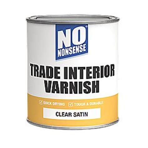 nonsense quick dry varnish satin clear ml interior