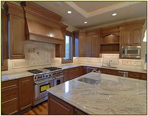 Light granite countertops with cabinets home
