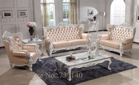 sofa set living room furniture wood and genuine leather
