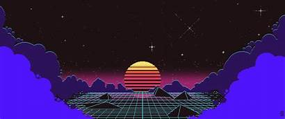 Pixel Sunset Outrun Wallpapers Background 4k Ultrawide