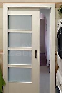 Posuvné dveře do pouzdra bílé