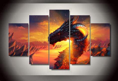 panels dragon group artwork multi canvas art