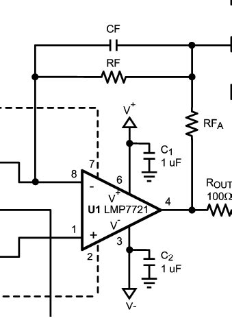 Amp Use Connecting Capacitor Converter