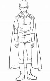 Saitama Punch Coloring Pages Printable Categories Anime sketch template