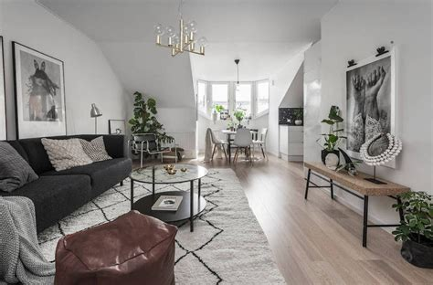 earthy interior design   compact scandinavian apartment