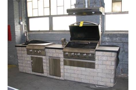 Grand Cafe Outdoor Kitchen Gas Grill With Rotisserie, Flat