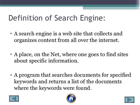search engine definition search engine
