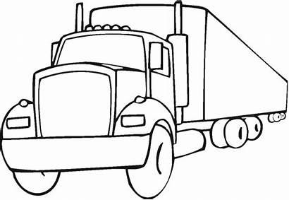 Coloring Wheeler Truck Printable Semi Mack