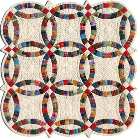 miniature double wedding ring template set quilting