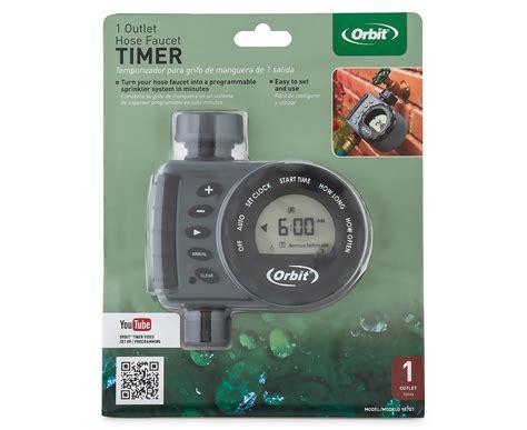 orbit hose faucet timer orbit 1 outlet hose faucet timer grey black ebay