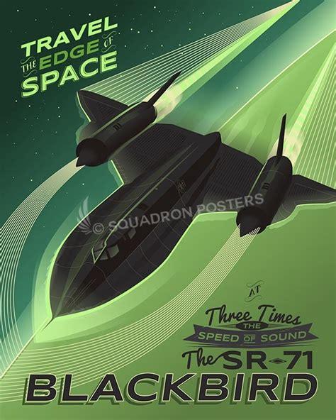 sr  blackbird travel  edge  space squadron posters