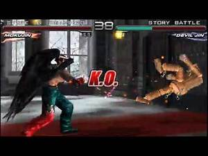 Tekken 5 Dark Resurrection Mokujin Story Battle. My gameplay