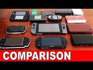 Nintendo Switch Size Comparison - 2DS 3DS GBA iPhone NGage PSP Vita VMU