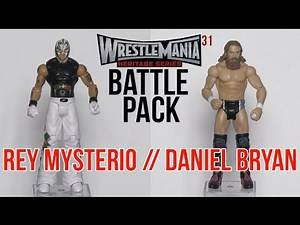 "WWE FIGURE INSIDER: Daniel Bryan & Rey Mysterio - WWE Battle Packs ""WrestleMania 31"" figures"