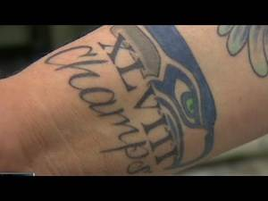 Seattle Seahwaks already sporting a Super tattoo