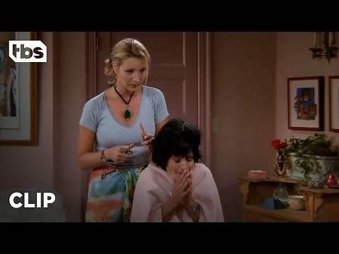 Friends: Phoebe Gives Monica a Haircut (Season 2 Clip) | TBS