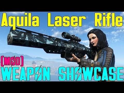 Fallout 4: Weapon Showcases: Aquila Laser Rifle (Mod)