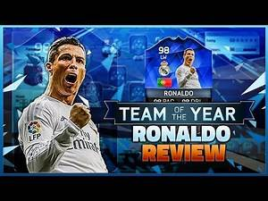FIFA 16 TOTY RONALDO REVIEW - BEST STRIKER IN ULTIMATE TEAM ? IN-GAME STATS + GAMEPLAY EXAMPLES