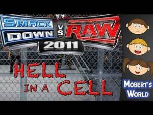 WWE Smackdown vs Raw 2011 - Hell in a Cell Triple Threat Match - Xbox 360 Gameplay