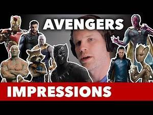 Avengers Voice Impressions (Thor, Black Panther, Iron Man, Groot)