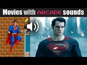 'Man of Steel' dubbed with 80s 'Superman' arcade sounds!