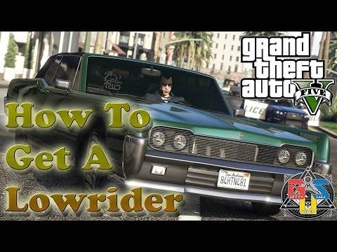 GTA Online - How To Get A Lowrider