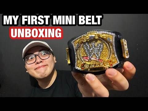 WWE Spinner Mini Replica Belt Unboxing | WWE Shop