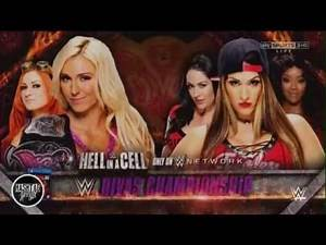 2015: Charlotte vs. Nikki Bella Official WWE Hell In A Cell Match Card ᴴᴰ