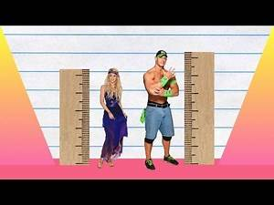 How Much Taller? - Shakira vs John Cena!